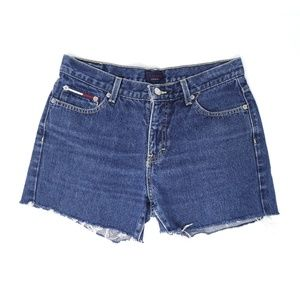Tommy Jeans vintage cutoff shorts, denim shorts, 9
